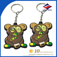 Anime Customized Make Your Own Silicone Rubber Keychain