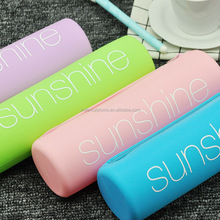 Hot Sale Zipper Silicone Stationary Pencil Case Bag Coin Holder