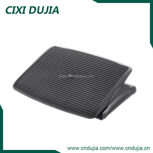 Cixi Dujia ergonomic office height angle adjustable portable plastic massage footrest foot rest