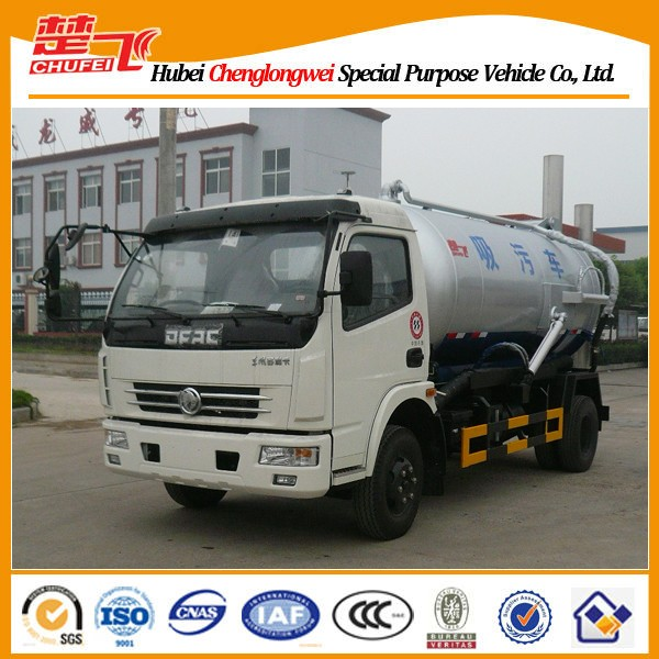 Dongfeng DFAC 6cbm suction truck,sewage suction tanker truck