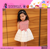 Hot Sale Summer Casual White And Red Striped Frock Design For Baby Girl