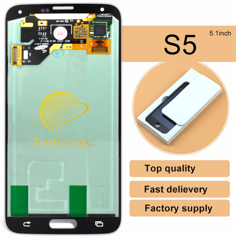 2015 China feedback well for samsung s5 i9600 <strong>lcd</strong> + touch repair grade AAAquality (without home button) (Warranty::one year.)