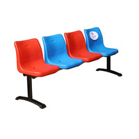 Stability is good JY-8206 4-seater mobile plastic seats for chair