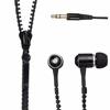 Super bass metal zipper earphone for iphone and samsung