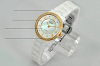2014 lady watches with 3 atm water resistant ceramic womens watch