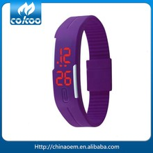 sports bracelet LED touch watch multi candy color silicone rubber digital watches waterproof wristwatch LED reloj LED