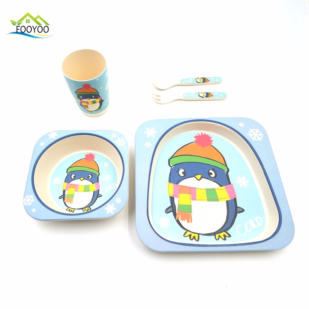 Boys use training set table ware set breakfast fishing set tableware