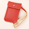 2014 latest good quality custom pu leather mobile phone case bag