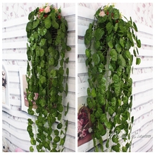 Customized size artificial ivy creepers fake vine fake ivy wall corvering with different types of leaf