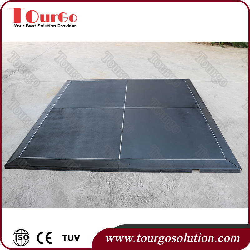Toughened Plastic lighting flooring for exhibition booth and expo stand TourGO