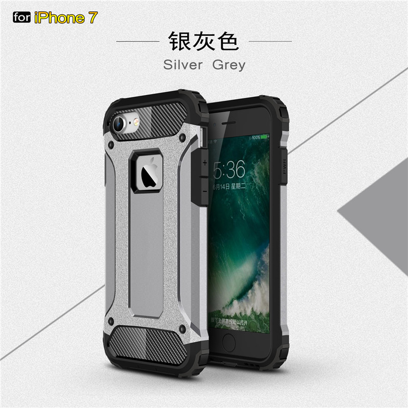 New Arrival Rugged heavy mobile phone case for iPhone 7 2 in 1 armor robot Case