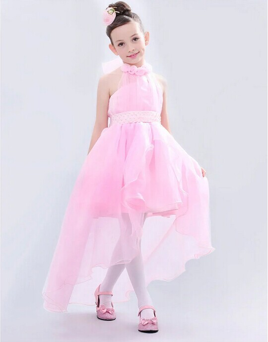 fancy 2015 fashion girls white pink wedding dress tutu lace flower puffy dress for girls from 2-8 years