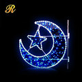 Blue Ramadan pole mounted decorative lights