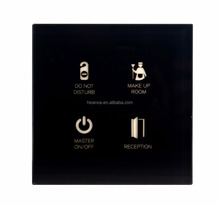 Hotel Guest Room Touch Panel 4 Gang DND MUR Master Light controls Switch