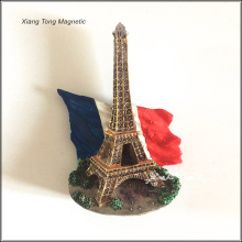 Eiffel Tower 3D custom printing resin fridge magnet for tourist souvenir