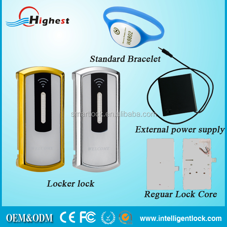 China supply access control smart digital electronic locker lock for SPA center cabinets lock