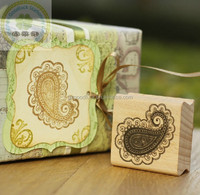 Custom logo handy wooden stamp block set