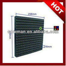commercial advertising outdoor led display, 256x256 p16 2rgb/rgb full color video led outdoor module