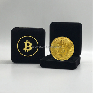 Wholesale cheap zinc alloy customized gold silver copper plated bitcoin challenge coin