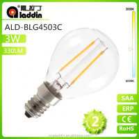 P45 3W 4W E14 E27 Glof Ball Mini Bulb led filament bulb with ce rohs certification
