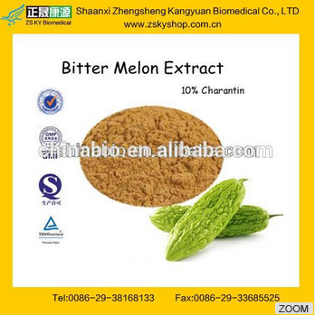 GMP manufacturer supply natural and high quality Bitter Melon 10% Charantin