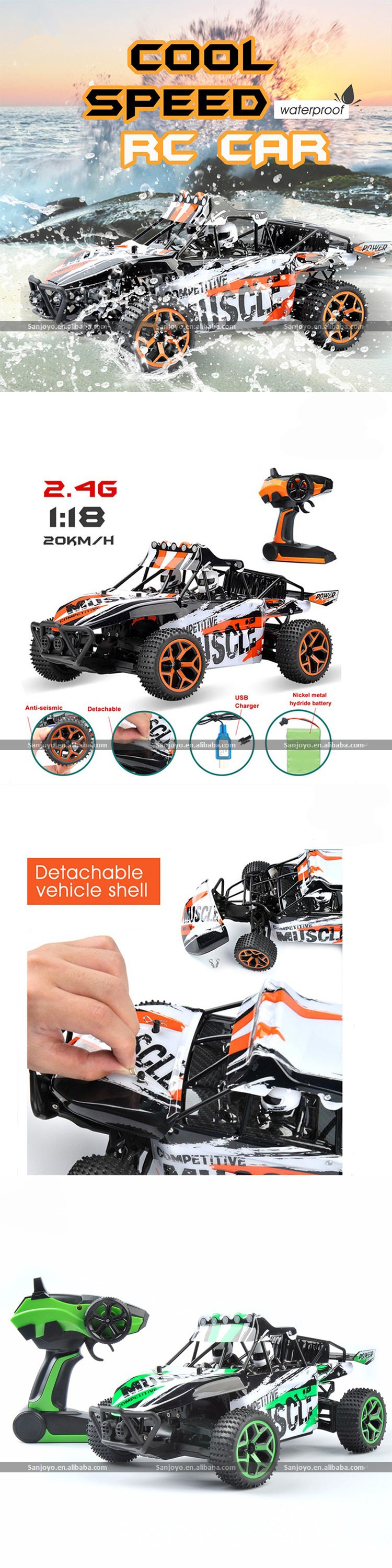 Newest Boys Original RC Car 1:18 2.4G Radio Remote Control Car Model Climbing Competitive 4WD RC Cars Racing Toys Vehicles