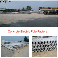 Pre-stressed/Non Pre-stressed spun concrete electric pole making equipment/concrete pole production machinery