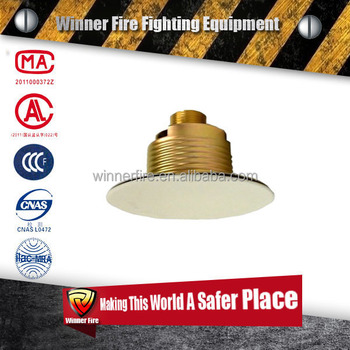 Brass head glass bulb Concealed Fire Sprinkler for fire fighting