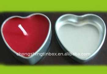 Heart Shape tin box for candle