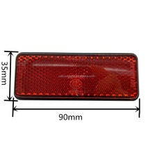 LED Red Motorcycle Rectangle Reflectors Tail Brake Light Stop Marker Light Truck Trailer RV Motorcycle
