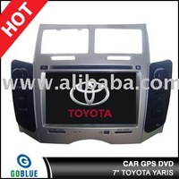 7 inch car dvd player speical for TOYOTA YARIS with high resolution digital touch screen ,gps ,bluetooth,TV,radio,ipod