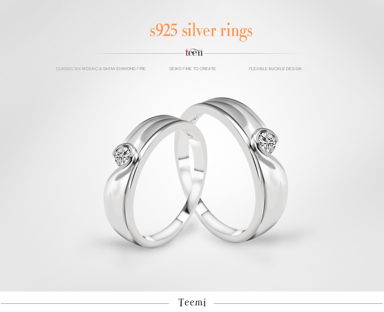 Teemi Men and women ring/fashion lovers ring buddhist monastic discipline ring/925.sterling silver