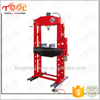 With CE Certificated 50 Ton Hydraulic Shop Press With Gauge