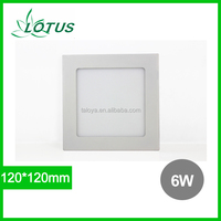 Best price Epistar SMD2835 430lm ultra thin 6w 120x120 mm led square downlight