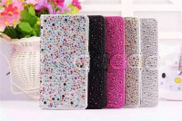 Luxury 3D Fashion Bling Raindrop Crystal Rhinestone Stand Leather case cover for iPhone 6 6s 4.7inch