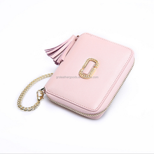 New summer collection Luxury Genuine leather bag hand bag purse female zipper wallet bags with tassel and hardware chain