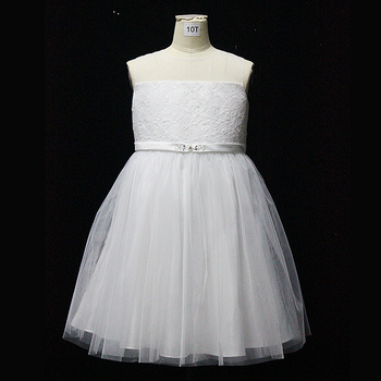 D30402A  Princess Girl Flower Dress Girl Party Dress Birthday Kids Children Frocks Dress Sleeveless