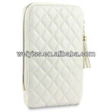 Luxury White Diamond Quilted Style Design---for ipad mini case
