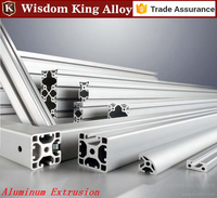 6063 T5 Different Shapes Customized Anodized Extruded Aluminum Profile