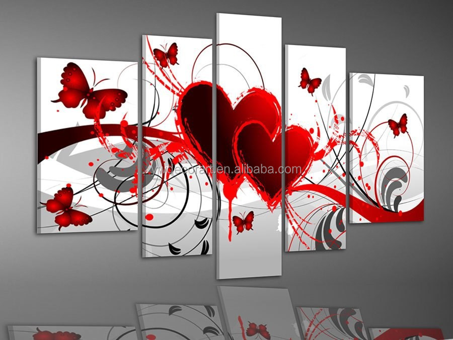 Wall decorative handmade butterfly painting modern ready to hang abstract oil painting on canvas pictures