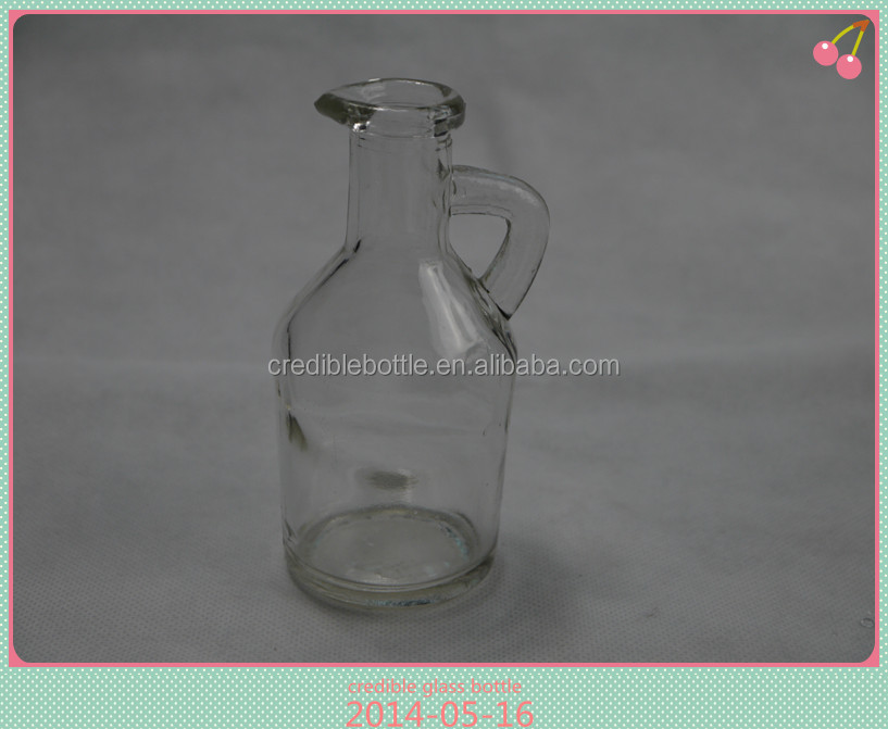 300ml transparent glass olive oil bottle pour spout