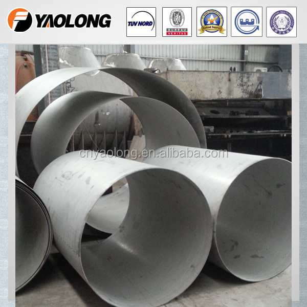 TP 304/316L <strong>manufacturer</strong> <strong>1000</strong>-2000mm diameter thin wall stainless steel air ducting for fume & exhaust application