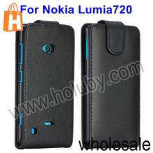 Magnetic Vertical Flip Leather Design Phone Case Cover Skin for Nokia Lumia 720
