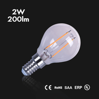 New design high efficiency replace halogen lamp 20w g45 e27 globe led filament bulbs 2w