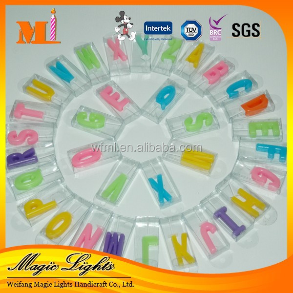 Wholesale China Birthday Cake Candle Letters