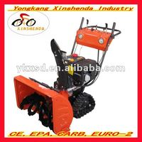 Hot sell 13hp portable gasoline snow thrower with track