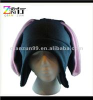 dark grey bunny rabbit animal hat funky cool fleece