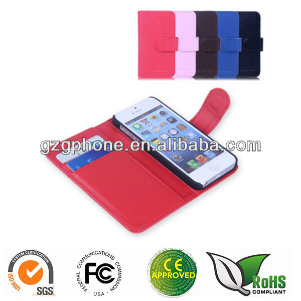 wallet leather case for iphone 5S/5SE cover