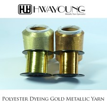 Polyester Dyeing Gold Metallic Yarn