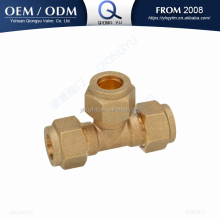 brass compression fitting tee pipe fitting tube fitting